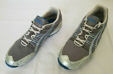 Mens Size 10 Grey Silver Blue Asics Hyper XC Running Shoes GY607 preowned