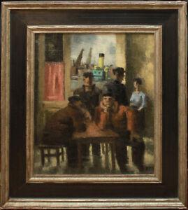"Frans Masereel  *1889-1972 signiert u. datiert - ""Hamburger Hafenkneipe"""