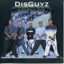 DISGUYZ ACAPELLA SINGING GROUP SIGNED CD SLEEVE WITH 4 TRACK CD AUTOGRAPH