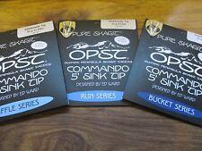 OPST PURO Micro skagit Commando 5 piedi 40Gr lavello suggerimenti Secchio Run & FUCILE SERIE