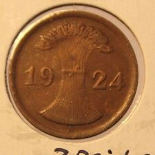 1924 A German Wiemar Republic 2 Rentenpfennig Coin and Holder Thecoindigger