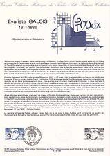 Document Philatélique Timbre 1er Jour : 10/11/ 1984 - Evariste Galois