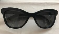 AUTHENTIC CHANEL BLACK BUTTERFLY POLARIZED SUNGLASSES WITH QUILTED DESIGN ARM