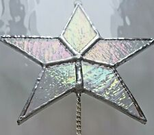 More details for iridescent star crystal stained glass window hanging suncatcher rainbow maker