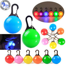 LED Pet Dog Collar Cat Luminous Night Light Safety Clip Flashing Neon Pendant UK