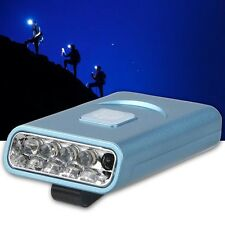 1pc Rechargeable 5 LED Sensor Head Cap Hat Lamp Light USB Headlamp Torch Blue MT