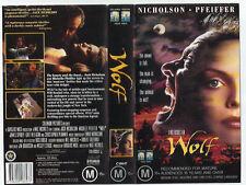 Wolf  VHS PAL Video Cassette  TAPE