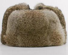 Vintage Fourrure Vraie Lapin Chapka Luxueux Homme Ouchanka Bonnet Ski Papa Gift
