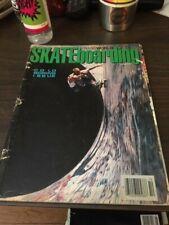 Transworld Skateboarding Magazine October 1987 Mark Gator Rogowski 10/87 Oct