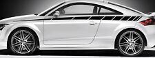 2 X BANDES GRAPHIQUE POUR AUDI BMW STREET RACING AUTOCOLLANT STICKER BD518 NOIR