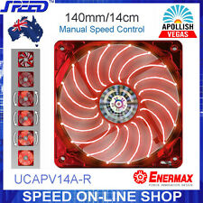 ENERMAX UCAPV14A-R 14cm Red LEDs Twister Bearing Apollish Vegas PC Cooling Fan