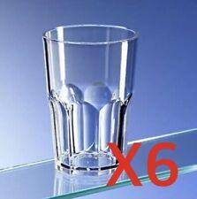 Avenues Set of 6 Unbreakable Reusable Polycarbonate Plastic Octagon Cups