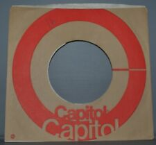 """25x 45 rpm CAPITOL brown red circle company sleeve LOT record sleeves 7"""""""