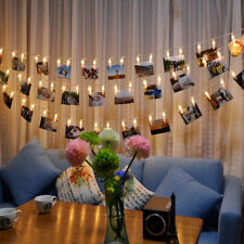 5M 40Photo Clip LED String Light Ceremony Wedding Bedroom Party Fairy Decor US