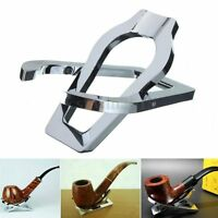 Portable Stainless Steel Foldable Smoking Tobacco Cigar Pipe Stand Rack Holder