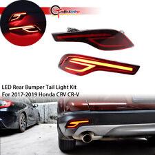 For Honda CR-V CRV 2017-2019 LED Brake Light Rear Bumper Fog Lamp Decoration L+R