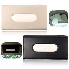 Leather Car Sun Visor Tissue Box Paper Napkin Holder Clip Cover Auto Accessory