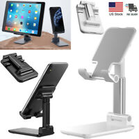 Adjustable Tablet Cell Phone Stand Foldable Desktop Holder Mount for iPad iPhone