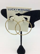 "1.5"" hoop earrings B71 Lucky Brand gold tone Thin"