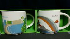 "Starbucks Mug Set Waikiki and Hawaii ""You are here"" 14 oz. - Brand New!"