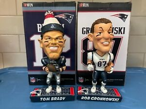 """Forever Collectibles  -  New England Patriots  """"Caricature""""  BobbleHead's"""