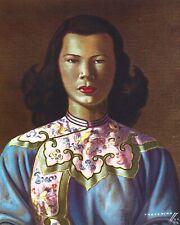 Vladimir Tretchikoff Chinese Girl - Blue Jacket Mid-Century Modern Classic Print