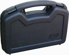 Foam Insulation Travel Two Gun Case For Handgun 9mm Ruger Taurus Pistol, black
