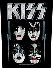 More details for official licensed - kiss - faces back patch rock simmons