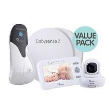 BABYSENSE 2 INFANT RESPIRATORY PACK +ORICOM SECURE 850 TILT VIDEO BABY MONITOR