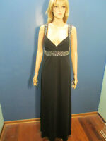 size 16 black formal lined zip up dress by SCARLETT - sequins