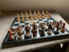 Schachspiel Römer / Ägypter, Brett 45cmx45cm,Figuren Kunststoff mehrfarbig