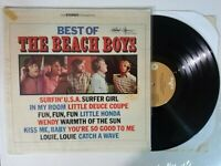 "1966 Best Of The Beach Boys VG+ 12"" vinyl record LP, Surf Rock Pop greatest hits"