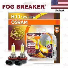 OSRAM FOG BREAKER Headlight Bulbs Duo Lamp 2600K YELLOW H11 12V 55W for LOW BEAM