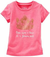 "Oshkosh Girl's S/S Princess Tee ""Once Upon a Time in a Faraway Land"" Pink - (4)"
