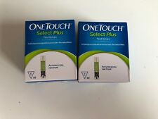 2 Boxes Of One Touch Select Plus test strips 50 (100 Strips Total) 5/2021 Sealed