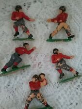 Vintage Football Players Cake Toppers of 5, Plastic