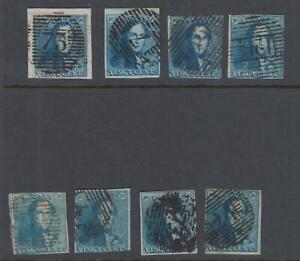 BELGIUM 2 - 1849 USED  MOSTLY NO FAULTS VERY FINE ! - T697