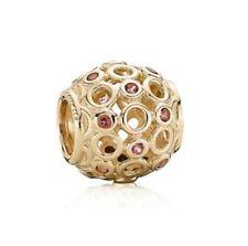 NEW! Authentic Pandora 14K Gold Celtic Circles Charm #750811TPK w/Hindged Box