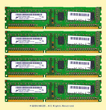 Micron Desktop RAM 8GB 4x 2GB PC3-10600U DDR3 NonECC Unbuffered 1Rx8 Memory LOT