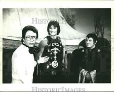 1983 Press Photo Director Bill Bixby With Actors Duncan Regehr and Clive Revill