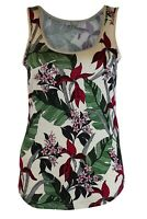 Ex Oasis Orchid Floral Silky Feel Vest Top Cami Summer Tee XS - XL