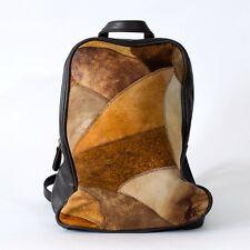 True Vintage 90's Brown Faux Leather Backpack Two Strap Handbag Festival Bag