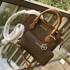 Michael Kors Leather Messenger Crossbody Handbag Bag Satchel Purse Clutch Wallet