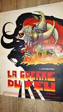 LA GUERRE DU FEU  !  affiche cinema  , bd dessin druillet