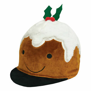 Figgy Pudding Christmas Riding Hat Silk Cover / Bike Helmet Cover *NEW*