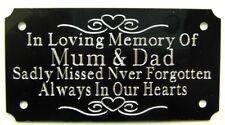 PERSONALISED MEMORIAL BENCH PLAQUE ENGRAVED GRAVE MARKER SIGN 95mm X 55mm