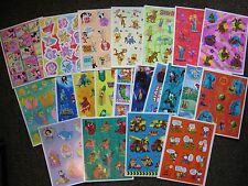 Big Lot 21 Hallmark Stickers Disney Looney Tunes Pooh Snoopy Scooby Mickey Mouse