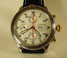 Longines Lindbergh Chrono Stundenwinkel Luxus Uhr