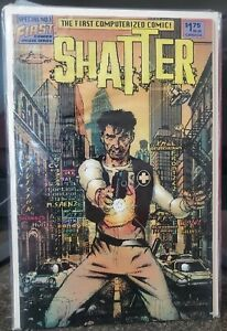 Shatter #1 1985 First Comics The 1st Computerized Comic!