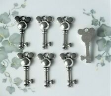 Set of 10 pcs Mickey Mouse Donald Duck Mix Jewelry Making Figures Charms Pendant